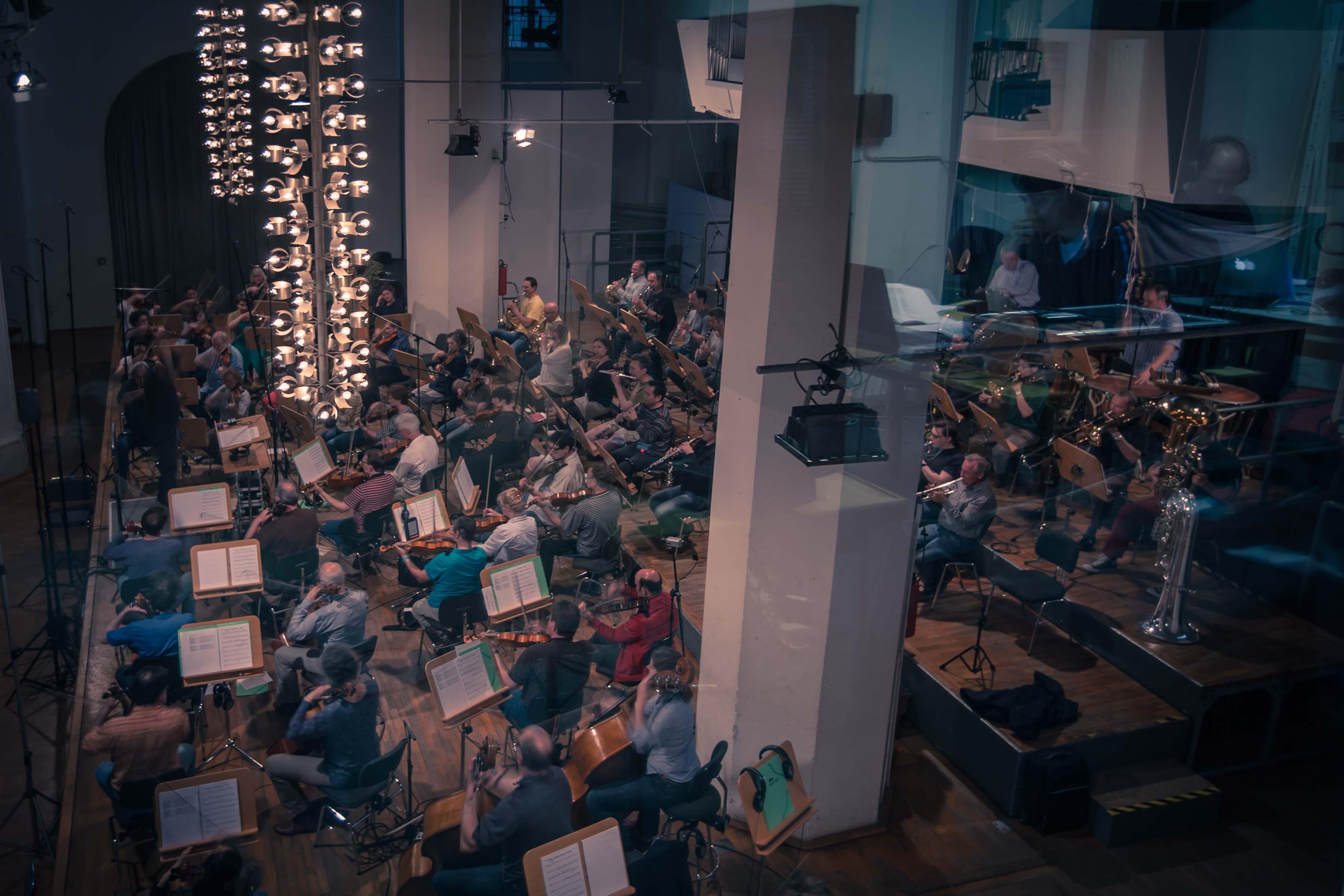 Enregistrement de compositions de la saison 3 du Monde incroyable de Gumball (crédit photo Ben Locket)
