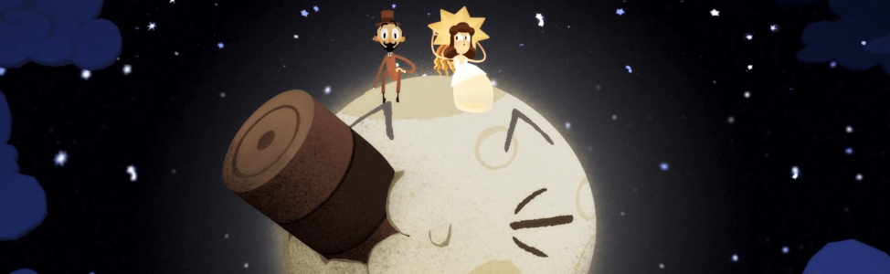 """Découvrez le Google Doodle 360 """"Retour dans la lune"""" de FX Goby et Hélène Leroux en hommage à Georges Méliès !"""