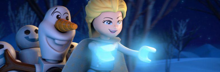 Elsa et Olaf dans La Reine des neiges : aurores boréales