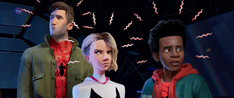 Peter, Gwen et Miles sans masques