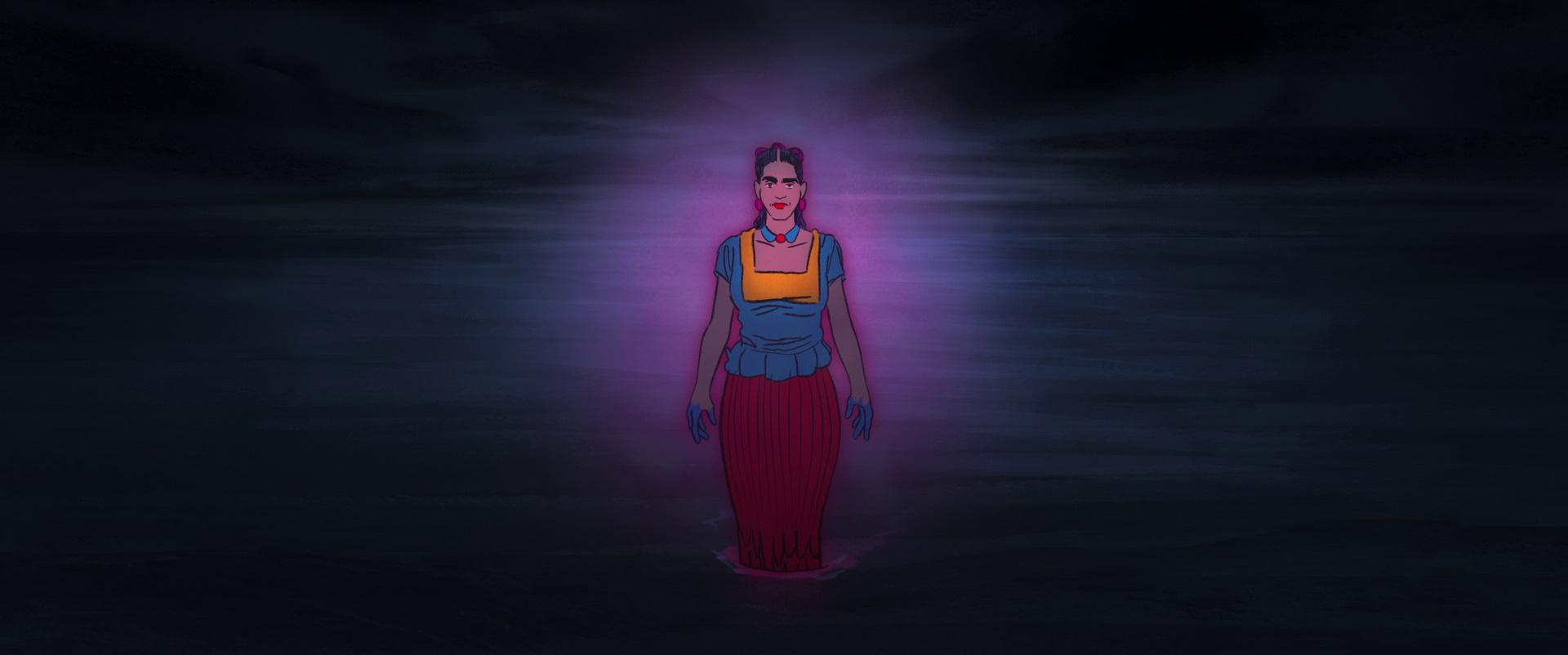 Une apparition prématurée de Frida Kalho dans Josep, réalisé par Aurel