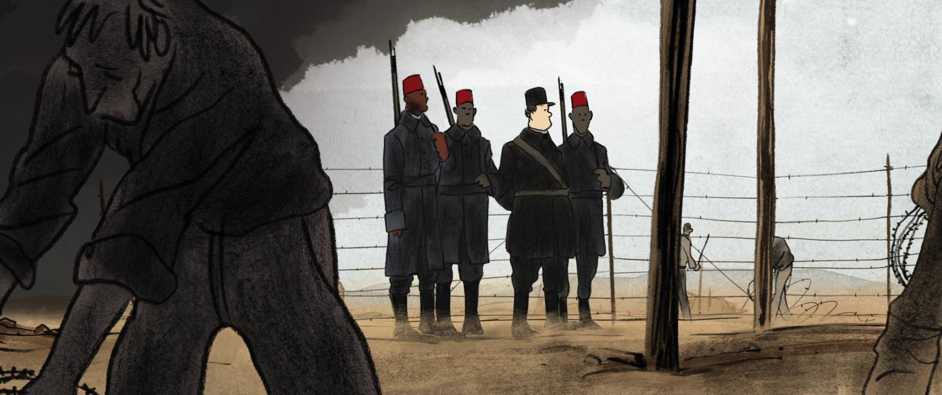 Serge et les tirailleurs sénégalais, une complicité salvatrice dans Josep